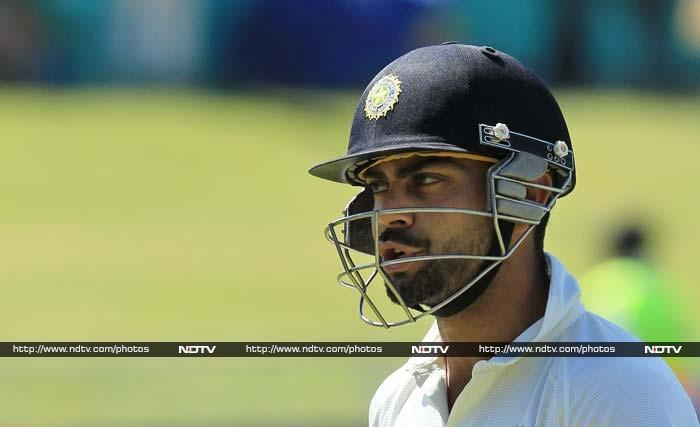 India had a horrible start when the tourists lost Virat Kohli off the first delivery of the day. <br><br> Kohli had scored 11 a day earlier but on the final day, an edge to AB de Villiers off Dale Steyn is all he could manage.