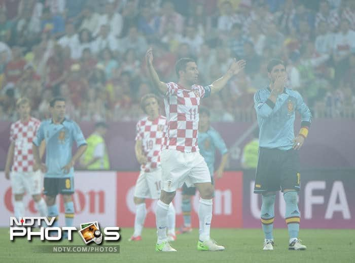 The match was even halted briefly when Croatian fans lit flares in the first half.
