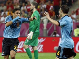 Euro 2012: Navas scores for Spain, Croatia bow out