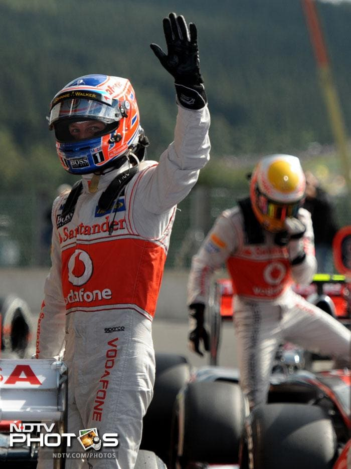 It was the 32-year-old Briton's first pole in 60 races for the McLaren, who endured a tough time, particularly in qualifying during the first half of the season.
