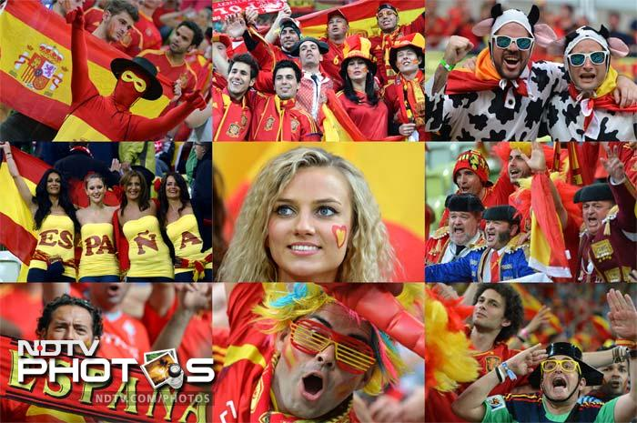 Spanish fans knew no limits to their joy and to their celebrations as their football team gave them enough reasons to go berserk after winning the Euro Cup 2012, beating Italy 4-0. A look at the celebrations. (AFP images)
