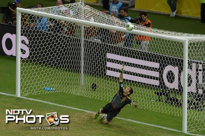 Leonardo Bonucci proved the fall guy for the Italians, blazing the 13th kick of the shoot-out over the bar before Manchester City new boy Navas calmly tucked his penalty home.