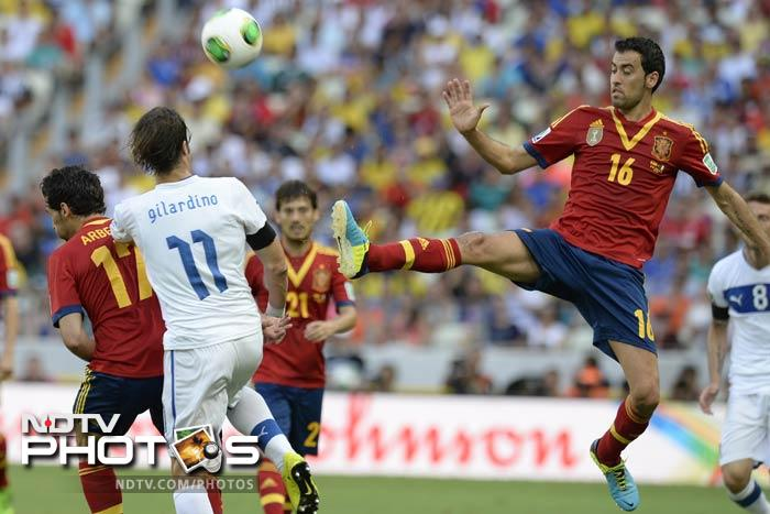 As a result, Spain's intricate passing exchanges foundered far from the Italian goal, and Prandelli's men were bold in their exploitation of the space behind the Spanish defence.