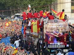 A king's welcome for European champions Spain