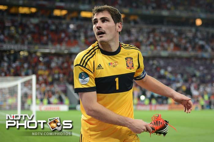 Captain Casillas will be a proud man after Spain reached their third consecutive final of a major tournament.