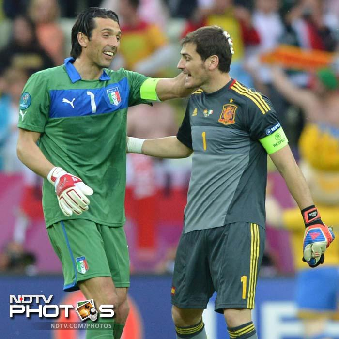 <b>Iker Casillas (ESP) v Gianluigi Buffon (ITA)</b><br><br> Not only are the two players leaders of their respective sides but also widely regarded as the two best goalkeepers currently. Both Casillas and Buffon have pulled off stunning saves in the tournament to keep their teams alive.<br><br> Casillas has conceded only one goal so far at Euro 2012 but that came in the opening game against Italy. He already has the Euro 2008 and 2010 World Cup to his credit as the Spanish captain while Buffon is still searching for his team's first title since he took over the reins from Fabio Cannavaro.