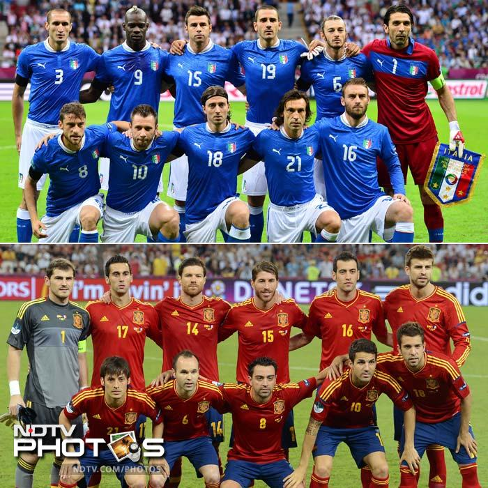 Al look at the individual battles that will help determine the outcome of Sunday's Euro 2012 final between Italy and defending champions Spain at the Olympic Stadium in Kiev. (All AFP Photos)