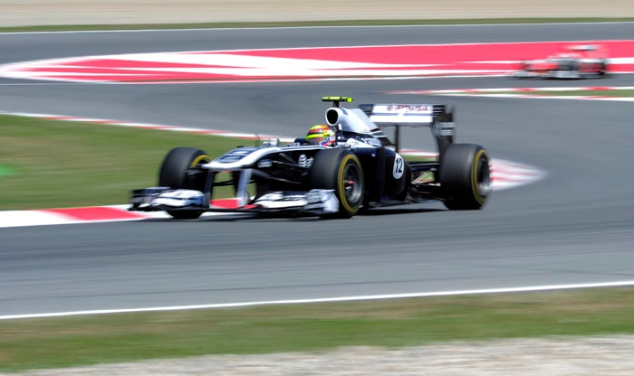 Williams' Venezuelan driver Pastor Maldonado did well to get the 9th place at the Circuit de Catalunya in Montmelo on the outskirts of Barcelona for the Spanish Formula One Grand Prix. (AFP Photo)