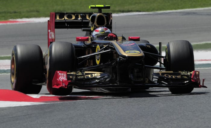 Renault's Russian driver Vitaly Petrov was the 6th fastest at the Circuit de Catalunya in Montmelo on the outskirts of Barcelona for the Spanish Formula One Grand Prix. (AFP Photo)
