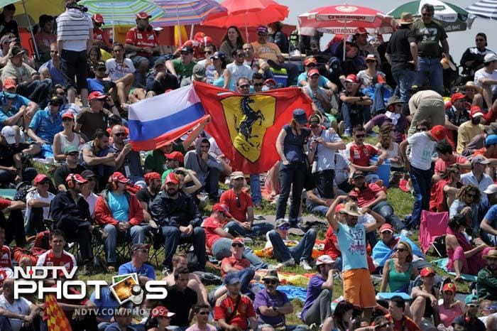 On Saturday, fans - mostly Ferrari loyalists - were out in large numbers at the Circuit de Catalunya.