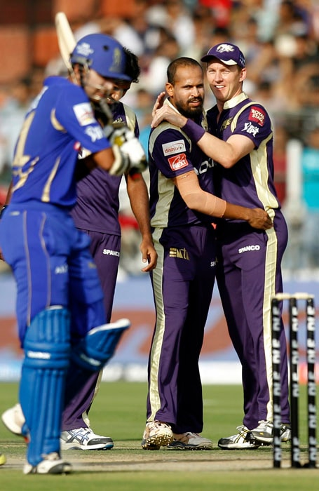 Yusuf Pathan: The hard-hitter was bought by KKR mainly for his batting exploits and while he is yet to fully explode on that front, his part-time spin has been a crucial contributor in KKR's success. The Baroda boy has not just been economical with a rate of 6.25 but also claimed 7 wickets. (AP Photo)