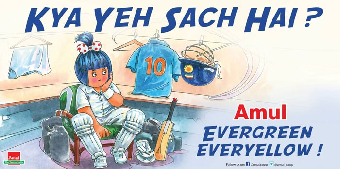 Here is Amul's take on Sachin Tendulkar's retirement from all forms of cricket.