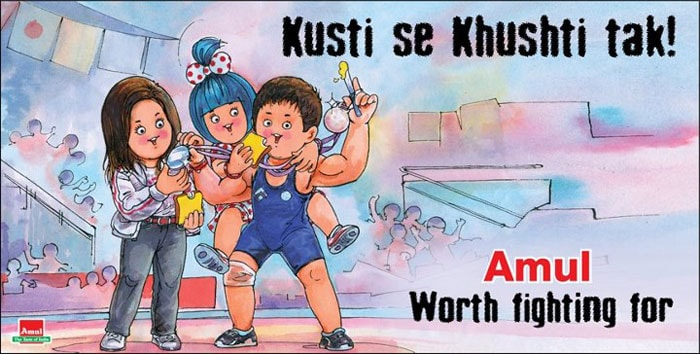 This ad is dedicated to Indian wrestler Sushil Kumar, who won a Silver medal at the London Olympics. He is the only Indian athlete to win back to back Olympic medals. He had won a Bronze medal at the Beijing Olympics in 2008.