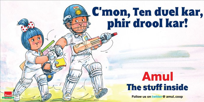 In this ad, Amul has backed master batsman Sachin Tendulkar, whose prolonged poor form has drawn scathing comments from his critics. Some of them have even asked him to retire.<br><br>However, a large section of cricket lovers, including some of his current and former teammates like Gautam Gambhir, Anil Kumble and Sunil Gavaskar, have come out in his support.