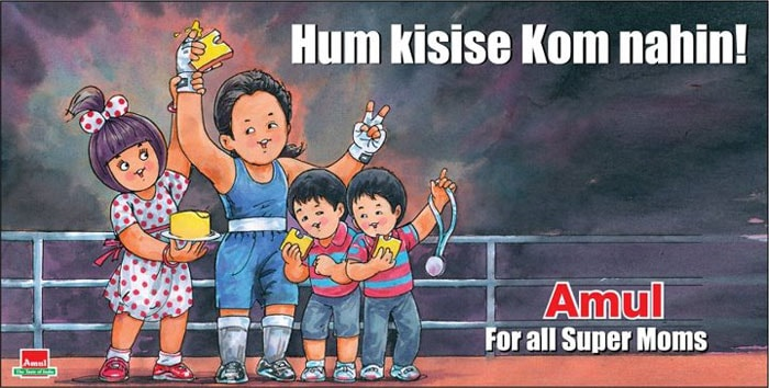 This ad is dedicated to MC Mary Kom, India's first woman boxer to win an Olympic medal. Mary Kom won a bronze medal at the London Olympics in the 51-kg category and won a billion hearts.