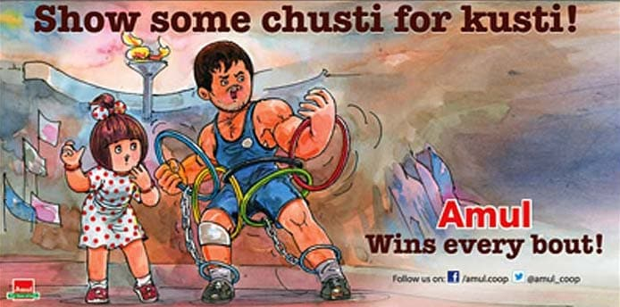 One of the most physical traditional Olympics sport, wrestling was dropped from the list of disciplines for the 2020 Games. Amul, in a recent ad campaign, displays the plight of the wrestlers post the Olympics snub.