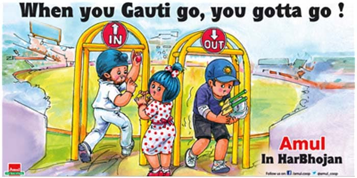 Harbhajan Singh came back into India reckoning after being selected for the 4-Test series against Australia. However, out-of-form Gautam Gambhir was dropped. Amul depicts its version on the latest juggling in the dressing room.