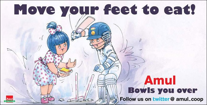 This ad talks about Sachin Tendulkar's poor show in the series against New Zealand. He was Bowled Out thrice in the series with experts like Sunil Gavaskar claiming that the Master Blaster was not really moving his feet and that the gap between his bat and pad was worrying.