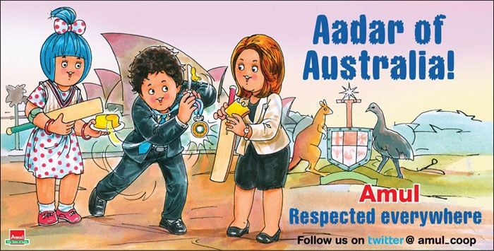Amul also hailed Sachin Tendulkar earlier when he was chosen for the prestigious 'Order of Australia' honour. The decision might have evoked mixed reaction Down Under, but here in India, everyone's celebrating.