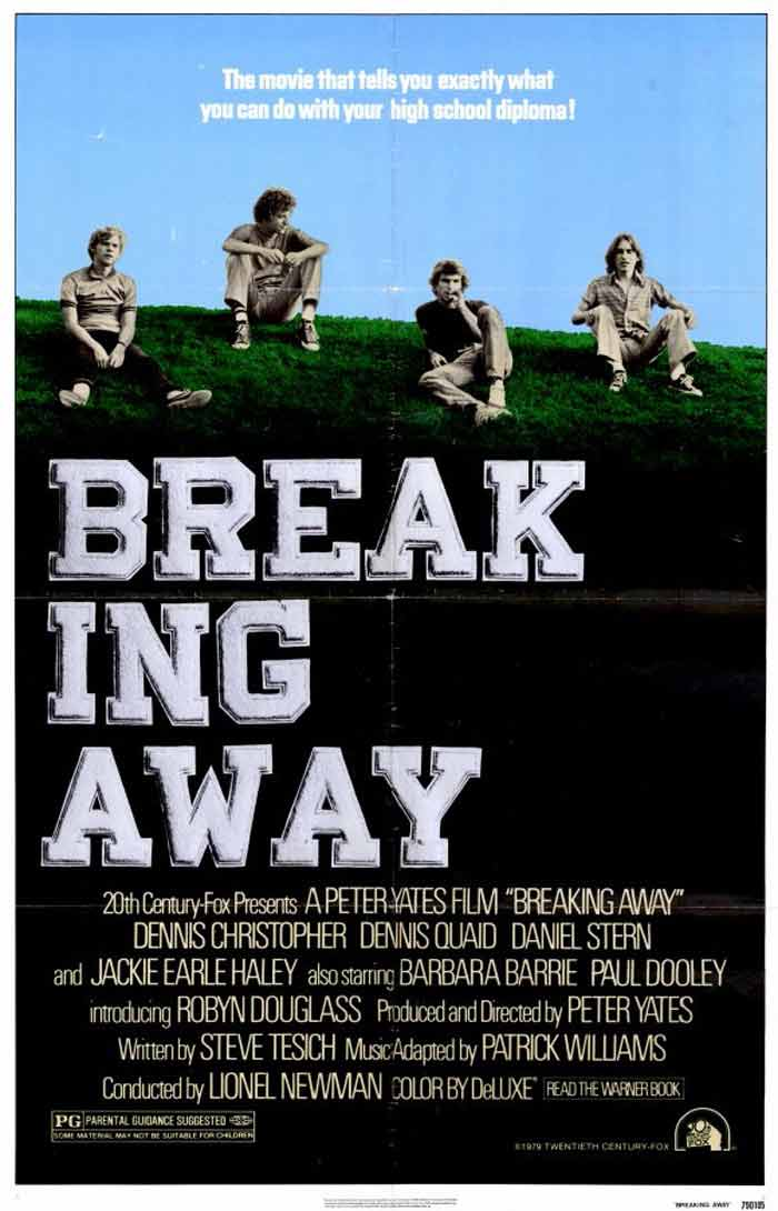 <b>Breaking Away (1979):</b> Dennis Christopher cycles his way to bridge the gap in society between his kind and the wealthier sections of the Indiana society. The movie showcase what true talent can do in face of man-created differences.