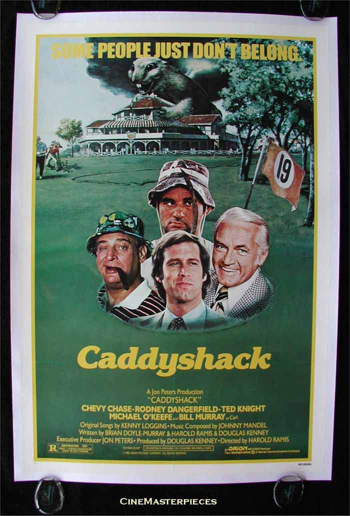 <b>Caddyshack (1980):</b> This movie has several sub-plots but has the viewer captivated throughout. Set in an exclusive golf club for the rich, a caddy (less fortunate of course) finds his way here and attempts to raise money for his college. What follows is best watched rather than be told.