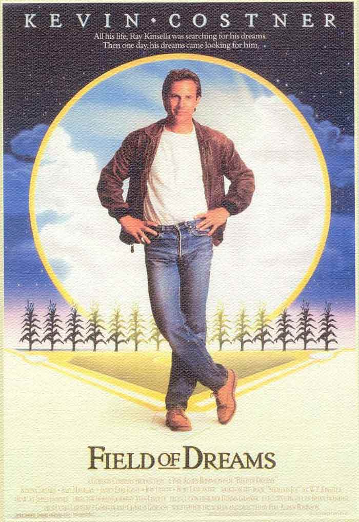 <b>Field of Dreams (1989):</b> Kevin Costner comes back a year after Bull Durham as a corn farmer who interprets a voice as a message to build a baseball team, the team that became famous eventually as the Chicago Black Sox.