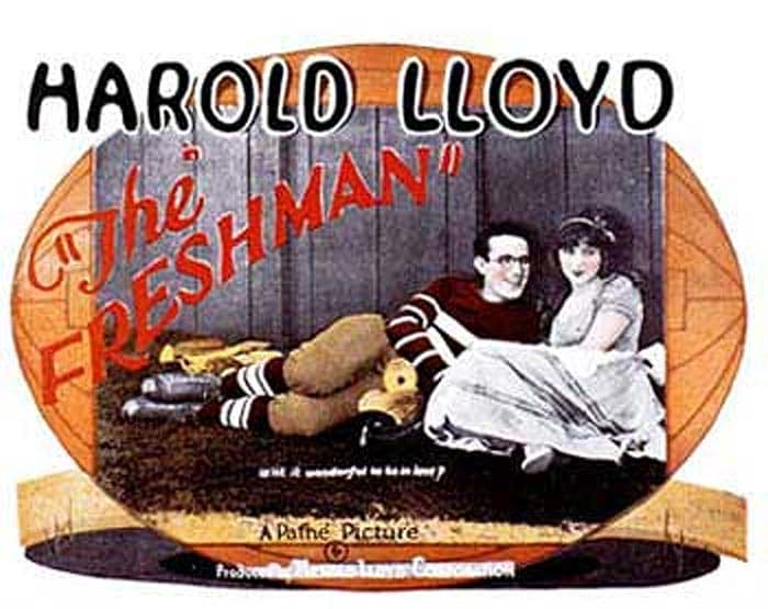 <b>The Freshman (1925):</b> Harold Lloyd was known as a brilliant actor and this movie is just one of his many achievements. In the movie though, he portrays a nerd who will do just about anything to become popular. Even football.