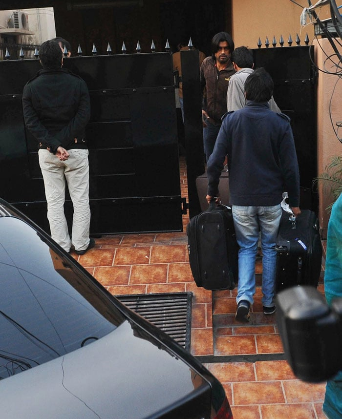 <b>February 26, 2012: </b>Mohammad Amir returns to his home in Pakistan after serving his jail sentence for spot-fixing in London.