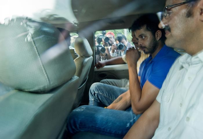 Sreesanth has been in the eye of a storm after the former Rajasthan Royals' pacer was arrested by Delhi Police on accusations of spot-fixing in IPL 6 matches. (AFP image)