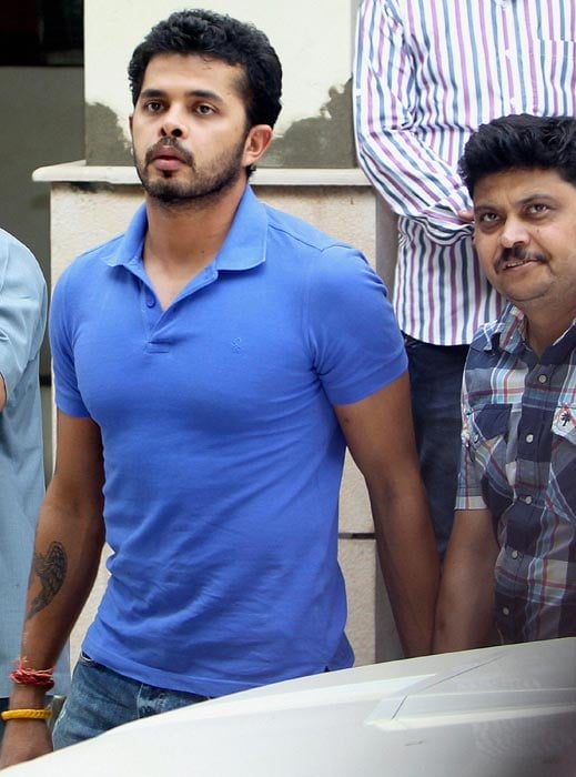 Sreesanth has tasted success and his story is now on tumultuous pages. The Indian pacer was produced in a local court in New Delhi after being charged with spot-fixing.<br><br>His custody was increased by 5 days. (PTI image)