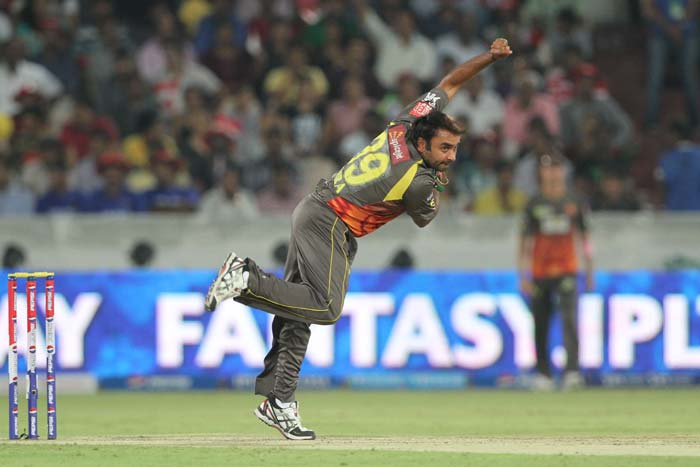 Leg spinner Amit Mishra bagged his fourth Man of the Match award in this year's IPL. He bagged figures of 4-0-8-2 and bowled 18 dot balls to strangulate the Rajasthan Royals batters in a tricky run-chase. (BCCI image)