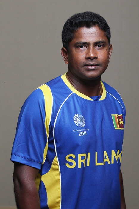 <b>RANGANA HERATH</b><br><br> <b>Age: </b>32.<br><b>Role: </b>Left-hand batsman, left-arm spinner<br> <b>Stats: </b>ODIs 11 Runs 4, Highest 2, Average 2.00, Strike-Rate 50.00, Catches 4, Wickets 11, Best bowling 3-28, Average 27.45, Economy-Rate 4.02<br><br> A surprise inclusion for the World Cup ahead of off-spinner Suraj Randiv, he was taken in to lend variety to the attack. A very prolific Test bowler who can be expected to shine in helpful conditions.(Photo: Getty Images)