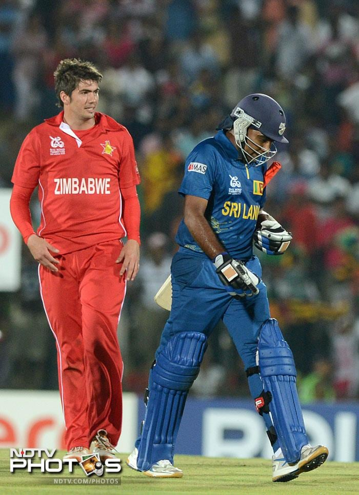 Graeme Cremer, though, justified his inclusion in the side and along with Prosper Utseya, checked the Lankan scoring rate a bit. Cremer was also the sole wicket-taker for Zimbabwe. With figures of 4-0-27-1, he proved a point and pushed Ray Price's inclusion in further games too in doubt.