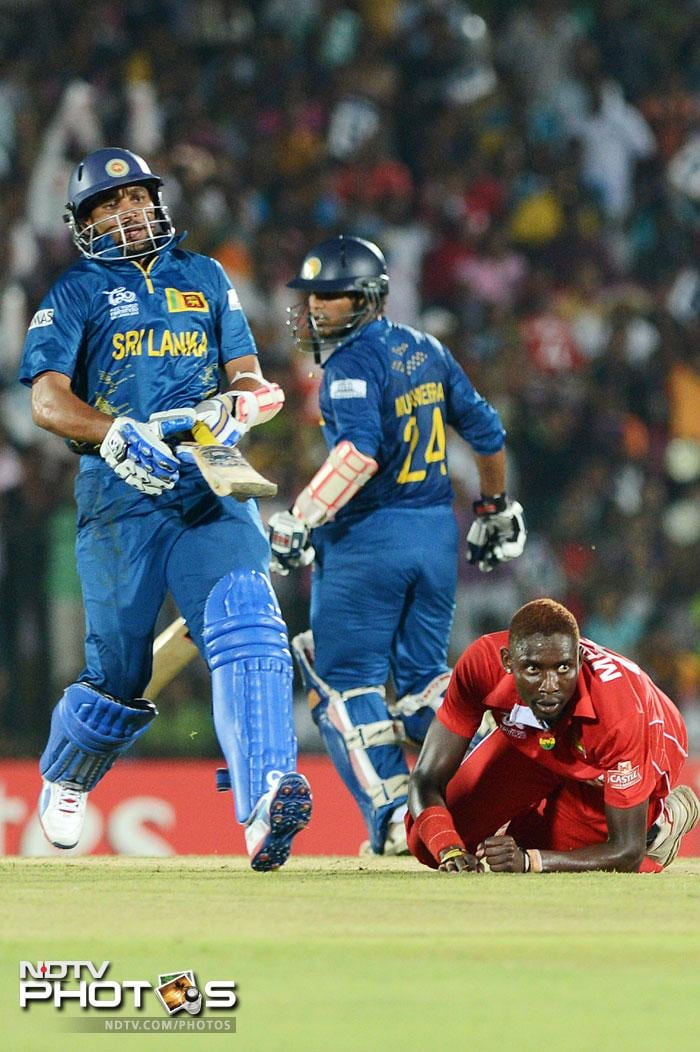 Sri Lanka had a new opening pair as a couple of Dilshans - Tillakaratne Dilshan and debutant Dilshan Munaweera - took to the crease. While Munaweera could not impress, scoring 17, in his maiden outing, the 'regular' Dilshan was typically aggressive en route 39 off 28.
