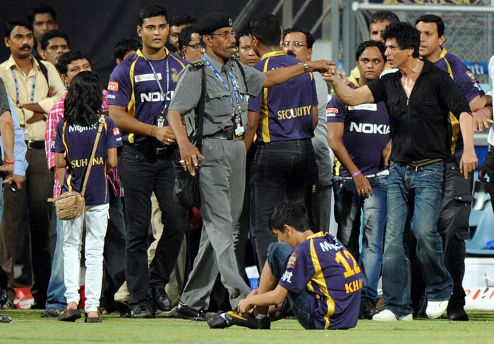 The alleged scuffle happened when the actor and his entourage were stopped from going on to the ground after the match between the the Knight Riders and the Mumbai Indians.
