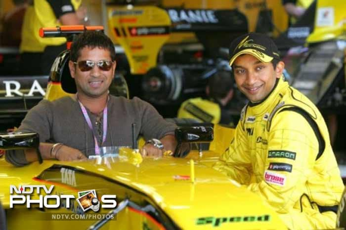 Sachin's love for cars and speed is well known.