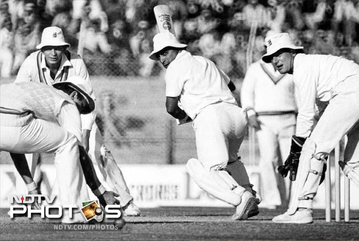 1975-76: In January '76, he makes his debut as a captain during the 1st Test against New Zealand in Auckland after regular captain Bishen Bedi suffers from a leg injury. In December while playing against England at Delhi, Gavaskar is mobbed after becoming the first Indian to reach 1000 Test runs in a calendar year.<br><br> One of his most famous knocks, but for all the wrong reasons, comes in the 1975 World Cup at Lord's against England. He carries his bat through the full 60 overs, scoring only 36 not out, leading Indian supporters to storm the field and confront him. He had the flair and the technique but was never really a flamboyant batsman. And, that's the reason he had a very average record in ODIs.
