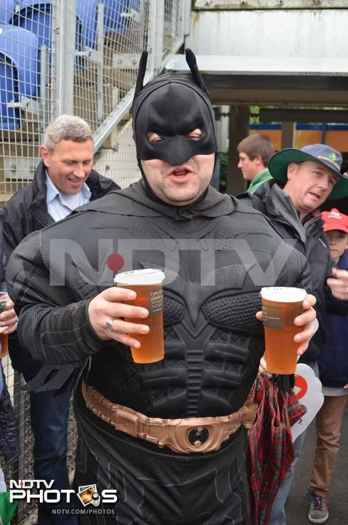 And who said superheroes don't need a breather.<br><br>Here is Batman with his favourite beverage.