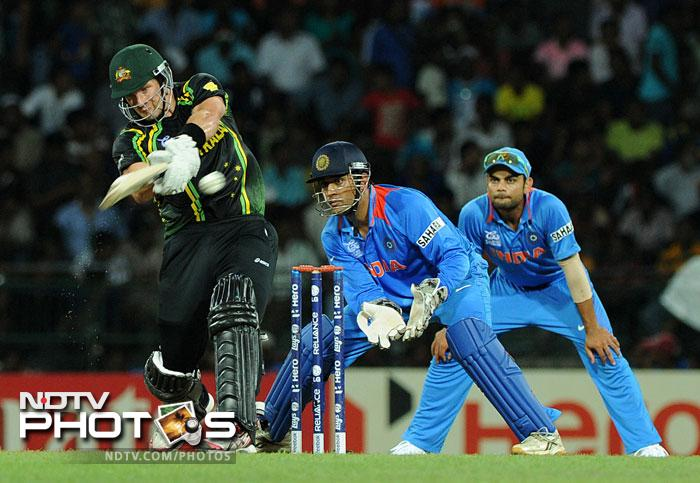 Shane Watson however had other ideas and smashed his way to 72 off just 42 balls hitting 2 fours and 7 sixes. With David Warner keeping him company with an unbeaten 60, the Aussies finished off the match in the 15th over winning by 9 wickets. It was a heavy defeat for India who now have to pick themselves up before Sunday's clash against Pakistan.