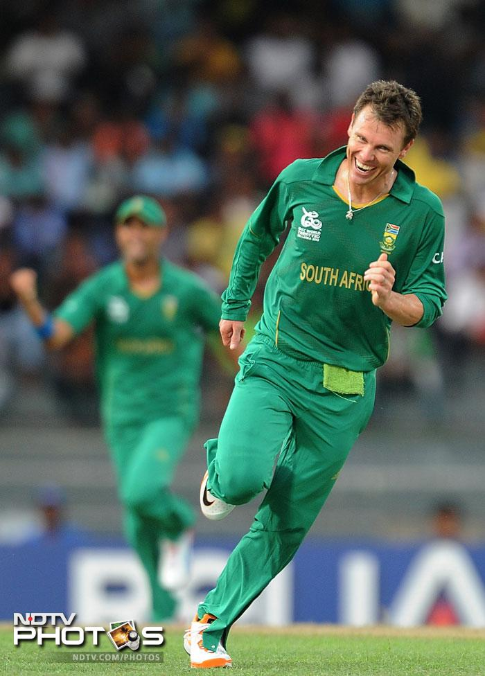 Johan Botha, the former South African T20 skipper, too chipped in with a wicket along with JP Duminy.