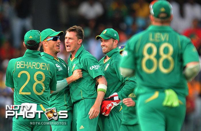 Dale Steyn was shocked in his first over but made a spirited comeback to remove - first Imran Nazir and later Yasir Arafat, Umar Gul - to rock the Pakistanis.