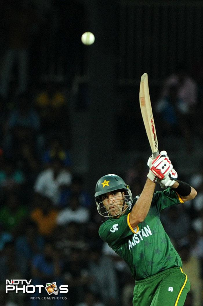Umar Gul was the chief destructor with 2 fours and 3 sixes in his 32 off 17 balls.