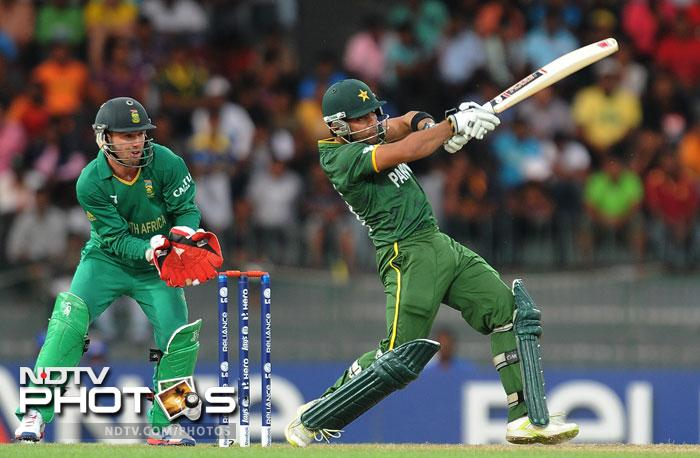 Pakistan did not throw in the towel though as a couple of Umars - Gul and Akmal - took it in their hands to guide the team home. Akmal was the supporter while Gul hit a few lusty blows to throw the gauntlet back at South Africa.