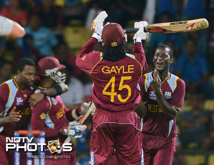 It was the Calypso power in the end as Tim Southee erred on the first ball of the super over with a no-ball and Chris Gayle promptly dispatched that for six. Marlon Samuels hit another six off the fifth delivery to seal the victory.