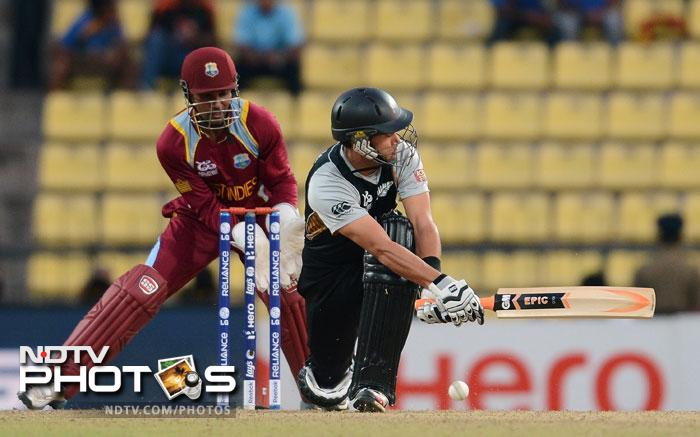 It was the Kiwi skipper Ross Taylor, who shouldered the responsibility of taking New Zealand home and giving themselves a chance to advance. He not only top-scored for the Black Caps but became the leading scorer of the match too.