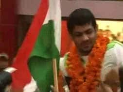 A rousing welcome for Sushil Kumar
