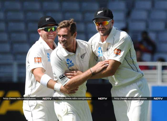 India were 366 all out as they chased 407 on the fourth day. New Zealand sealed the win and this means they can't lose the series. (AP/AFP)