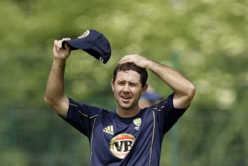 Ricky Ponting takes part in a training session for the Twenty20 World Cup at the Lady Bay sports ground in Nottingham, England. (AP Photo)