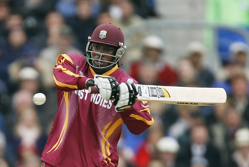 Chris Gayle of the West Indies bats during their ICC World Twenty20 match against Australia at The Oval in London. (AFP Photo)