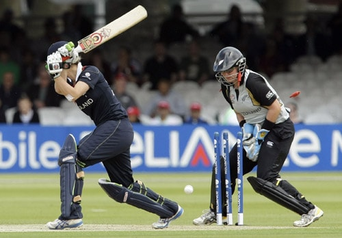 Rachel Priest reacts as Charlotte Edwards is bowled out by Sian Ruck during their ICC World Twenty20 Women's Final match at Lord's. (AP Photo)